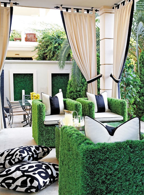Black And White Outdoor Space Ideas 15