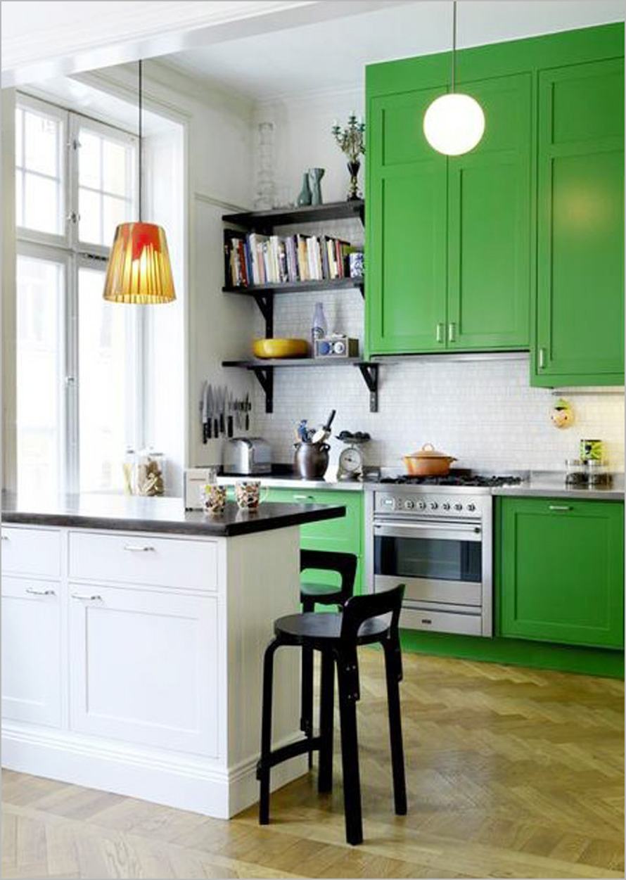 Colorful-Kitchen-Interior-Design-Ideas-With-Green-Cabinets