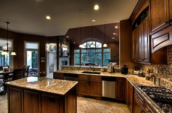 Sophisticated-traditional-kitchen-design-with-shades-of-mauve-and-brown