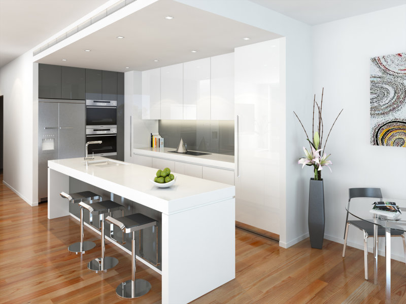 White Kitchen Design Ideas With Island