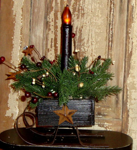 Sled-Sleigh-Decoration-Candle-Holder