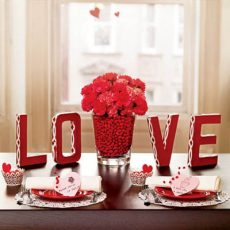 20 AWESOME VALENTINE TABLE DECORATION