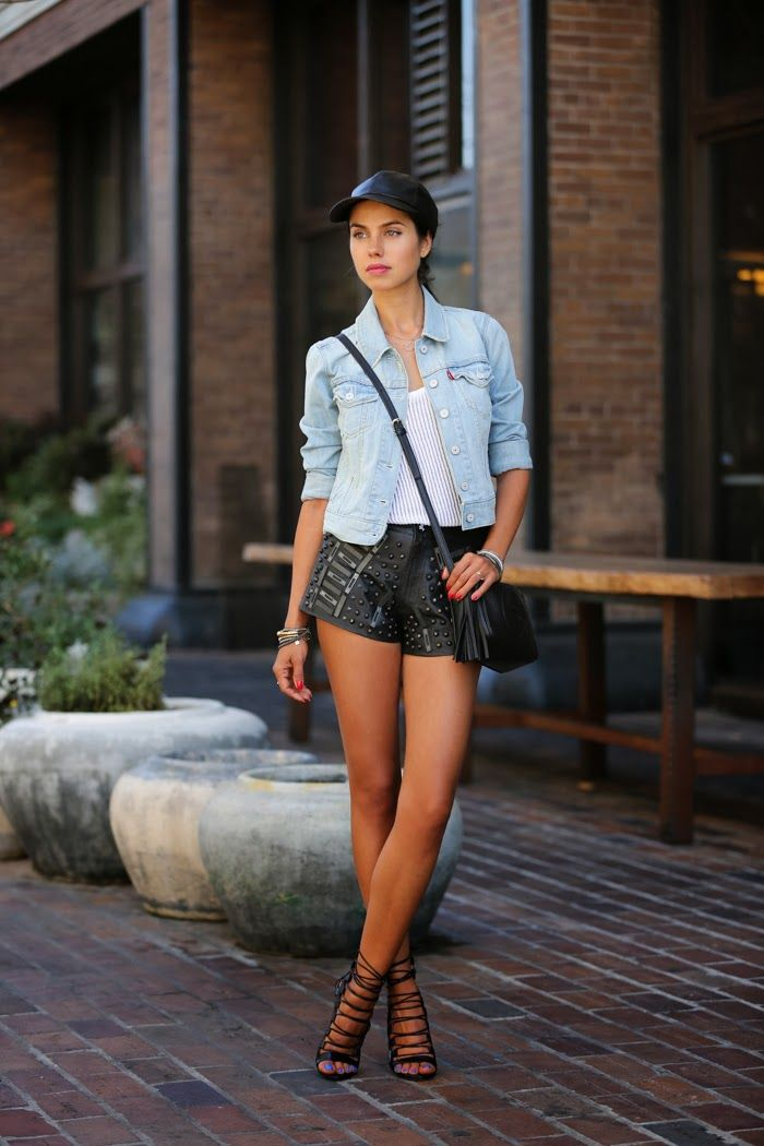 Cool Ways to Wear Leather Shorts