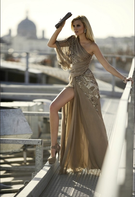 Sexy-Gold-Evening-Dress