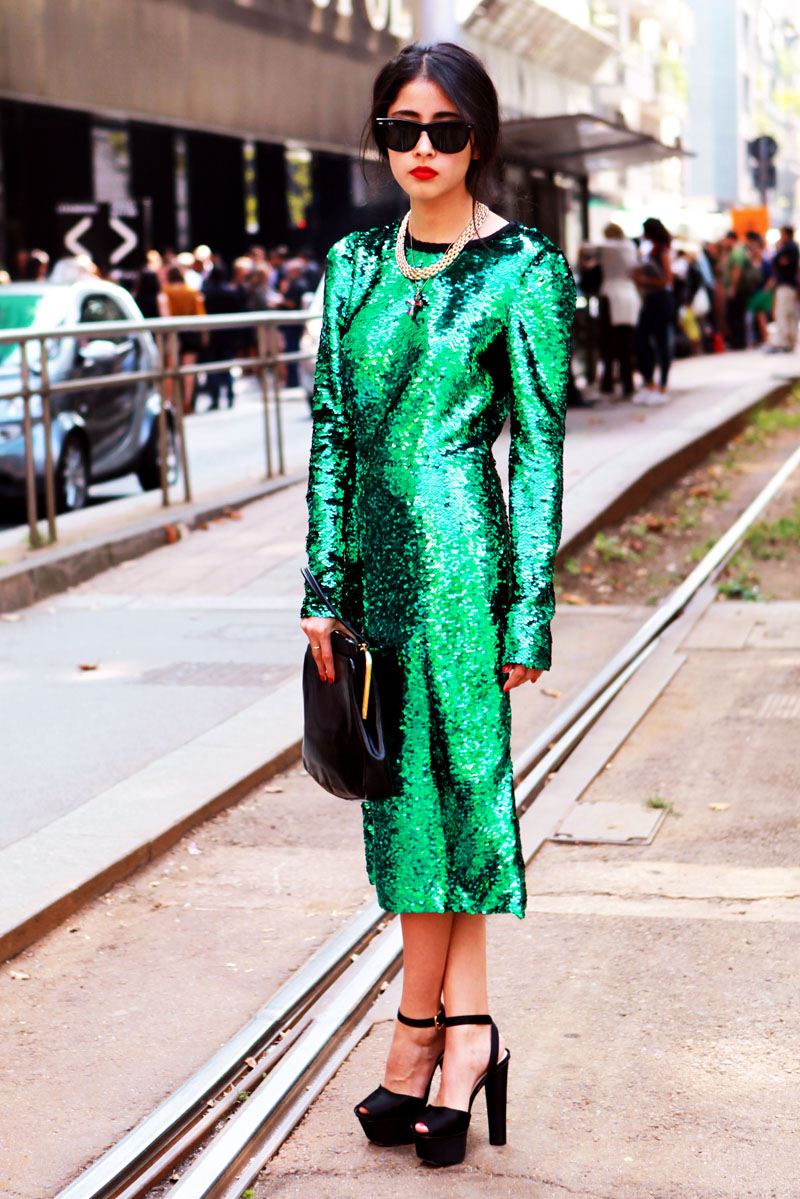 dolce-gabanna-green-sparkle-dress.