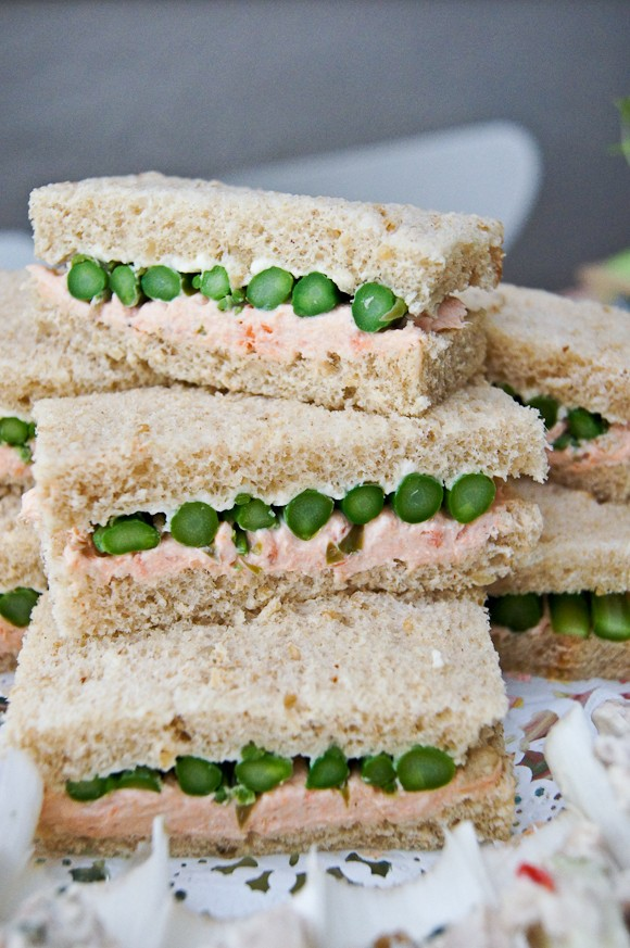 salmon and asparagus party sandwiches ideas 2014 party finger food ideas-