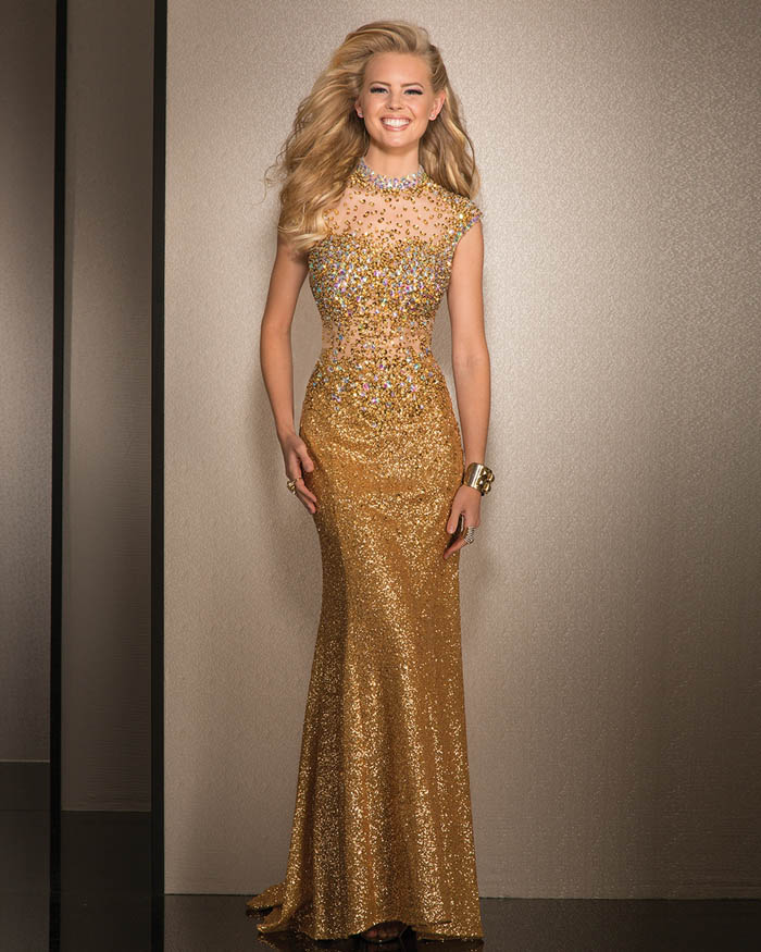 MESMERIZING GOLD DRESS FOR ALL YOU PARTY ANIMALS.... - Godfather Style