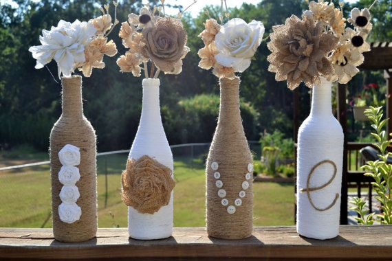 WINE BOTTLES DECORATIONS