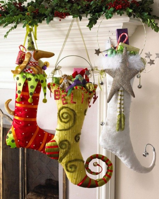 christmas-stockings-and-ideas-to-use-them-for-decor-4