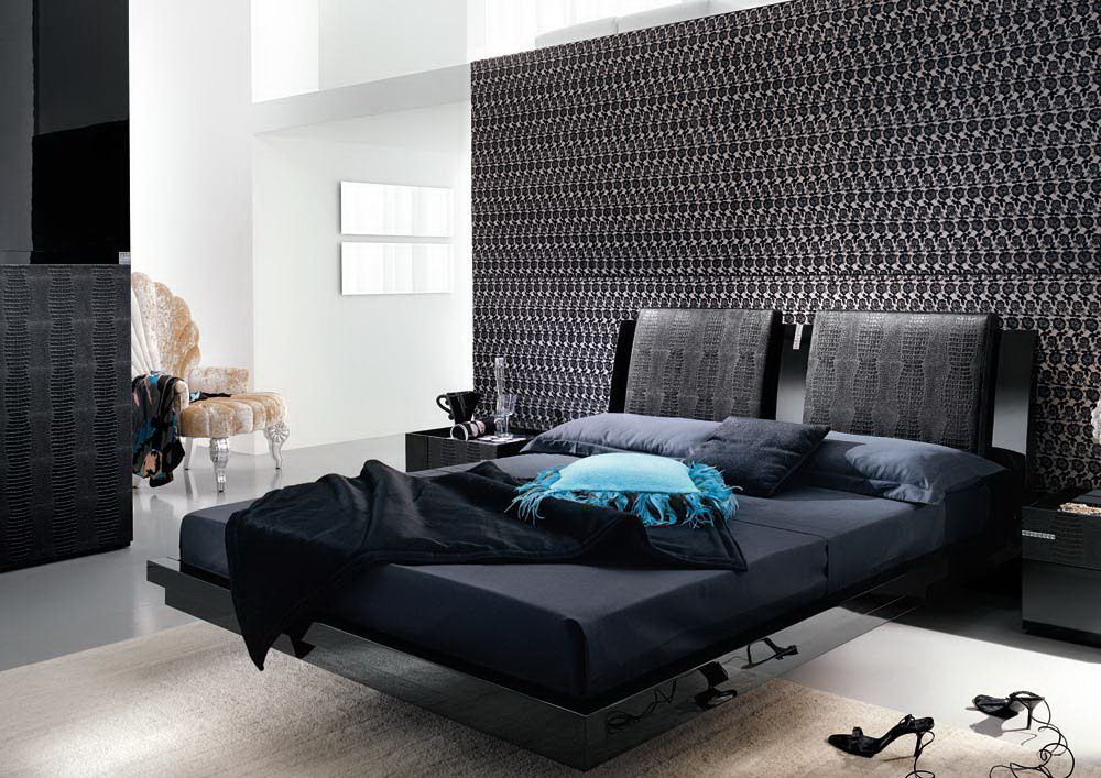 Black-Based-Modern-Master-Bedroom-Interior-Design-With-Unique-Chair