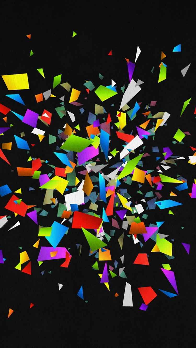 Colorful-Glass-Shattered-Pieces-iPhone-6-Wallpaper