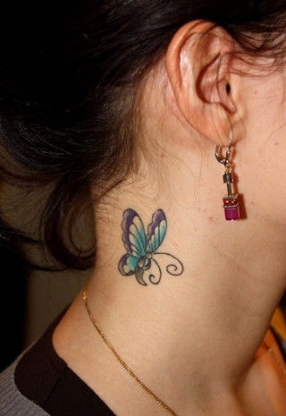 blue-butterfly-tattoo-on-neck.