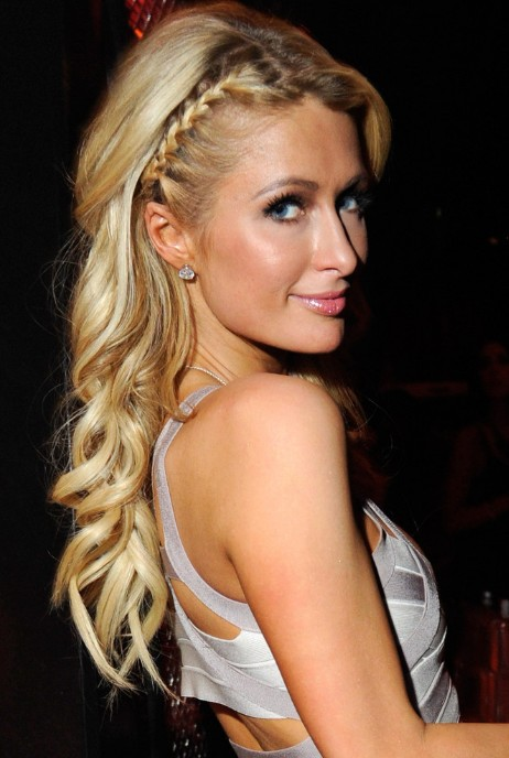 Paris-Hilton-Cute-Long-Blonde-Braided-Hairstyle.