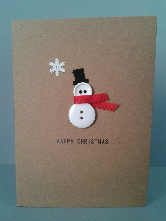 button-snowman-card