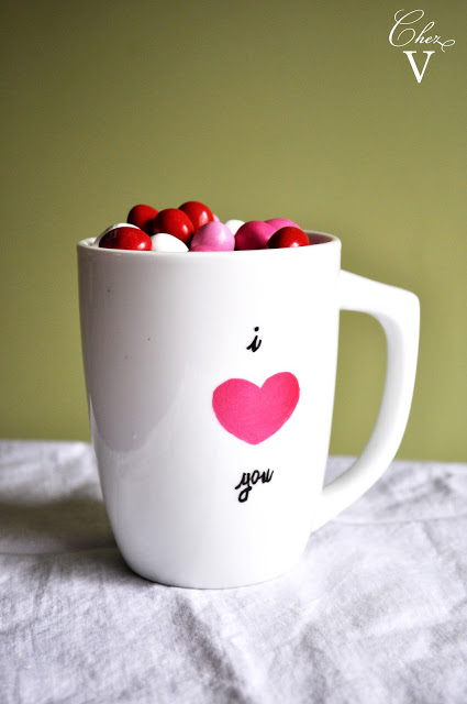 I Love You DIY Valentine Mug